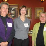 Carolyn Emerson (founding member of WISE SSEP), MHA Charlene Johnson and Dr. Laura Halfyard (president WISE NL).